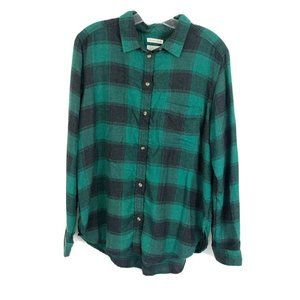 American Eagle Ahh-mazingly Soft Plaid Button Up L